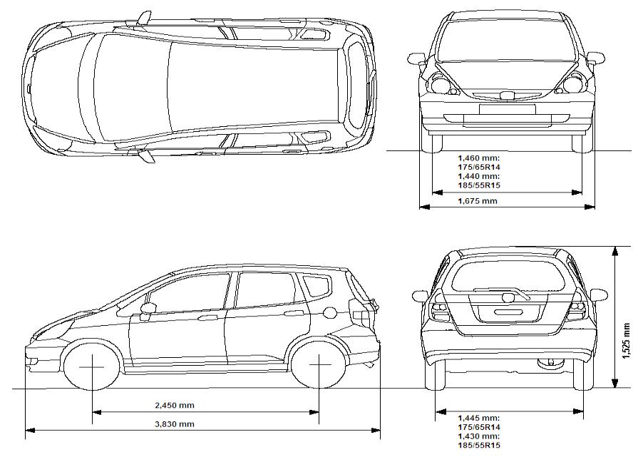 Medidas de carro pesquisa google ky thuat xd for Normas para planos arquitectonicos