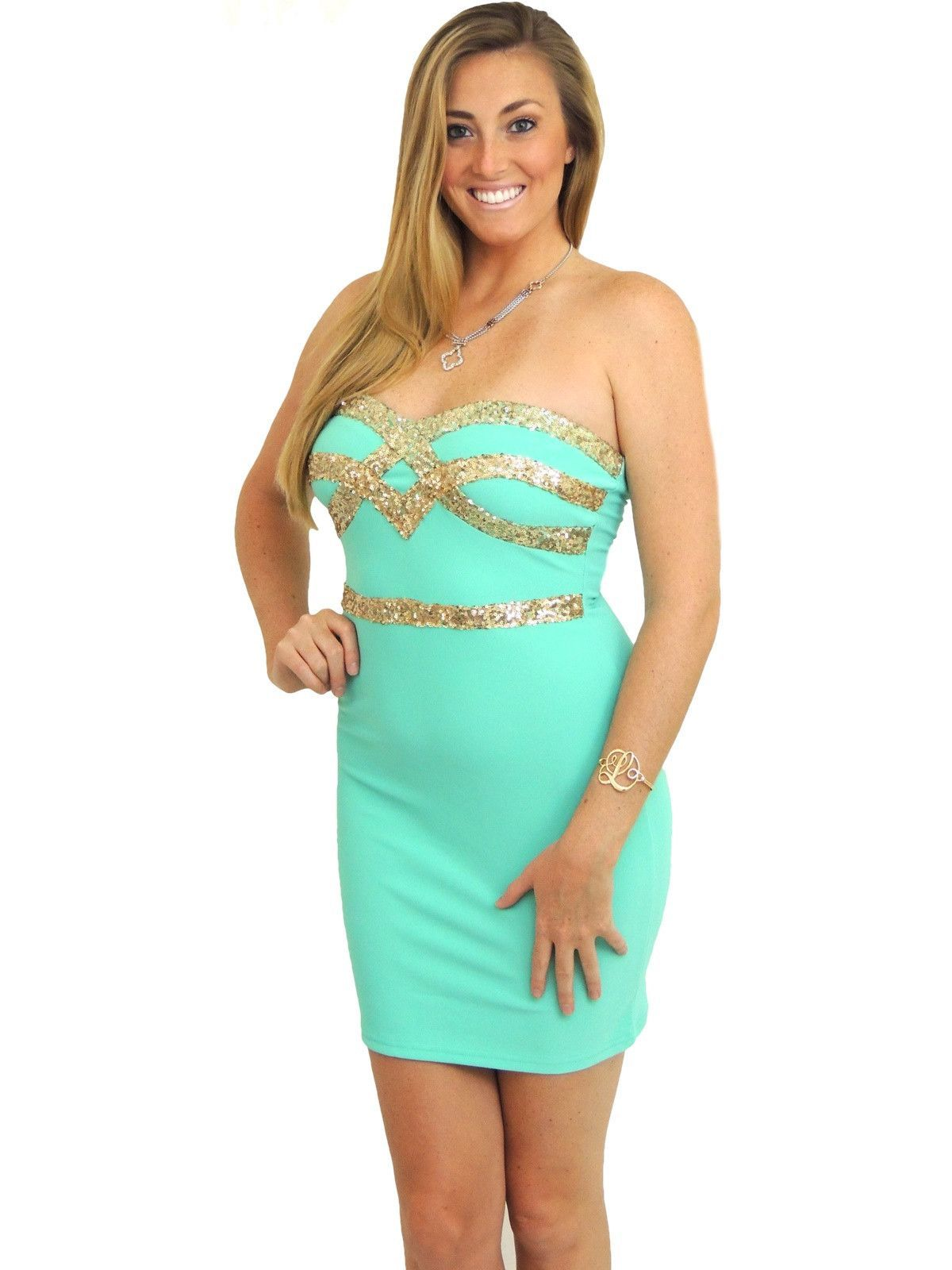 Makeup with mint green dress  Crown Jewels Sweetheart Dress  Mint  Sweetheart dress Crown