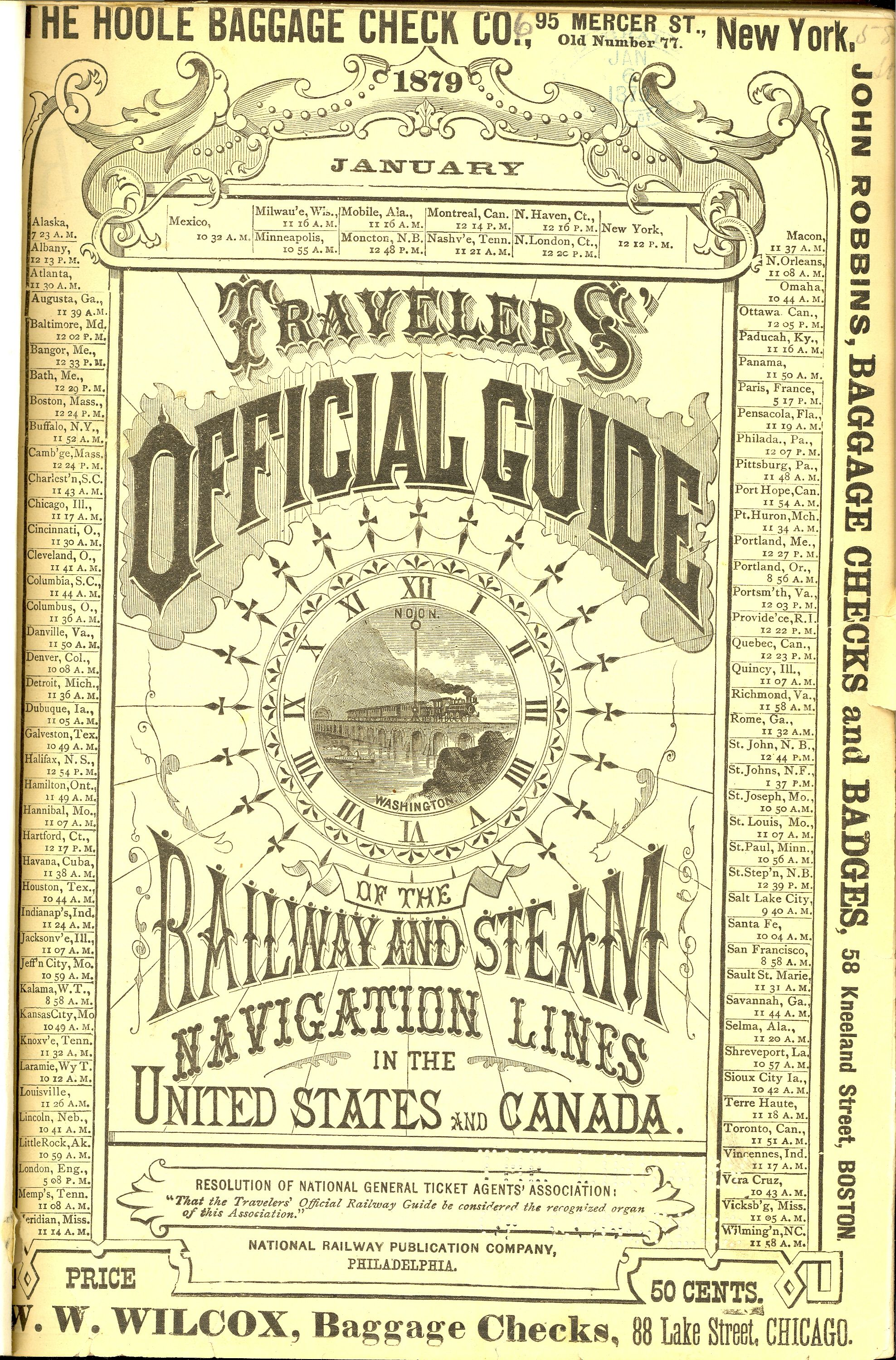 Official Railway Guide 1879