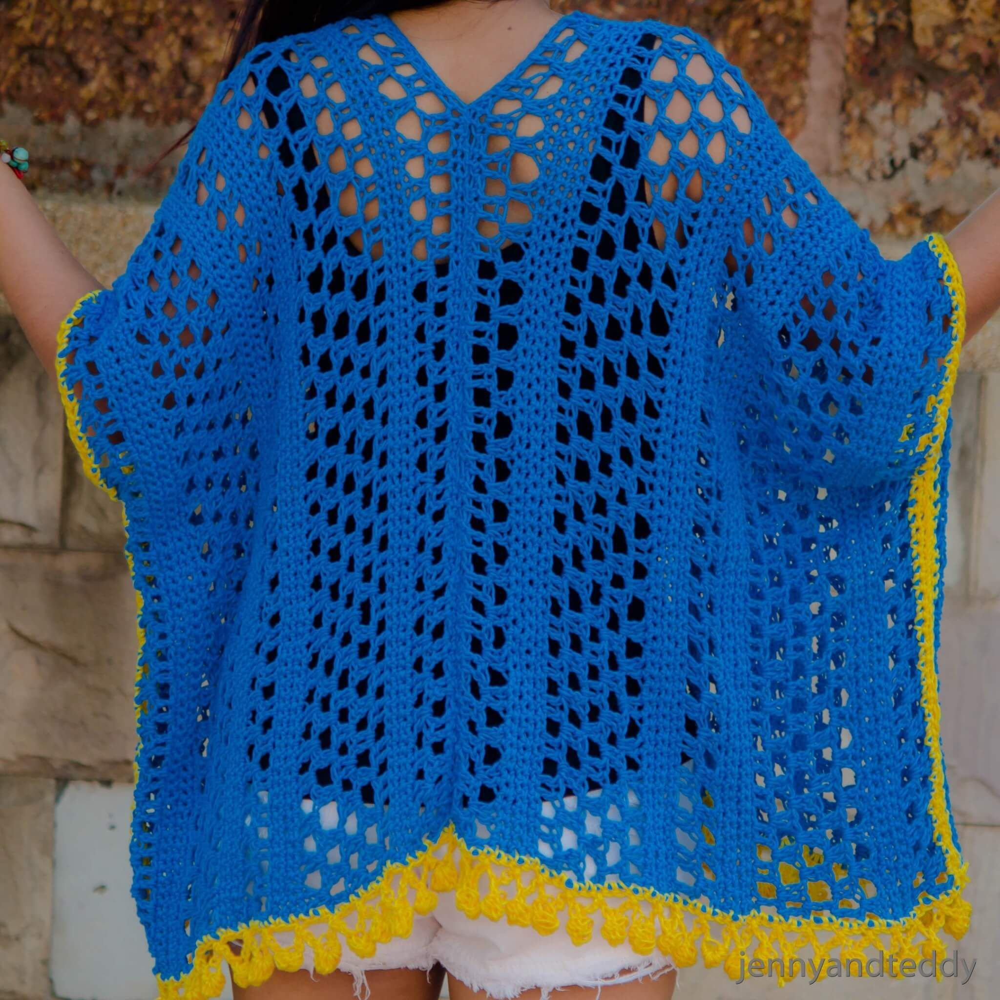 Crochet Kimono Cardigan Free Pattern Easy Crochetarves And