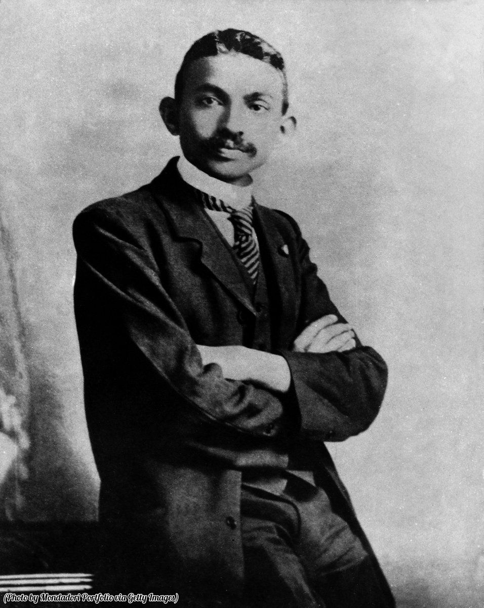Mahatma Gandhi as a young lawyer, India, 1893.#Gandhi #India #Historical