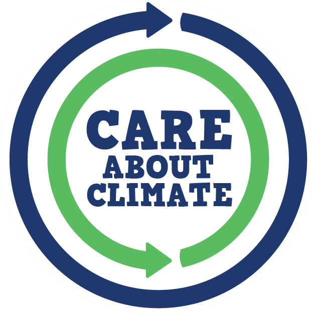 The new Care About Climate symbol, with text, to show you care about climate! http://www.careaboutclimate.com/