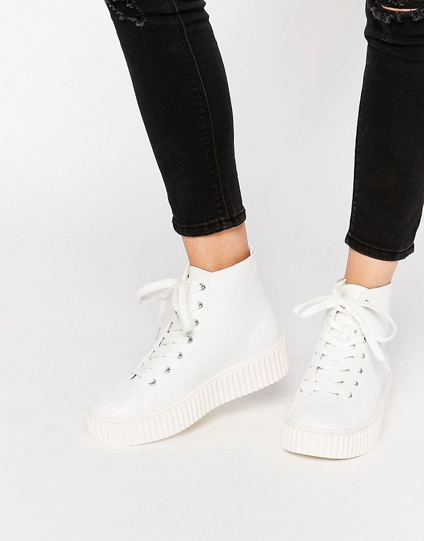 35a4de77c865 Image 1 of Truffle Collection Flatform Creeper High Top Sneakers Creeper  Sneakers