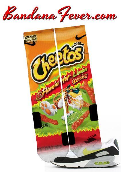 f2f948585d1 Custom Nike Elite Socks Flamin' Hot Cheetos Limon, #elites, by Bandana Fever
