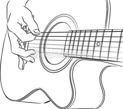 Guitar Line Drawing Guitar Drawing Easy Drawings Sketches Guitar Art