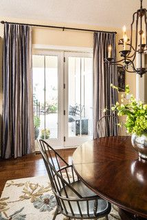 Pin By Drapery Street On Dining Rooms Traditional Dining Room Silk Drapes Transitional Curtains