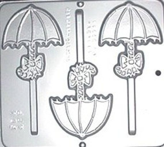 Umbrella Lollipop Chocolate Candy Mold Baby by CandyMoldsNMore