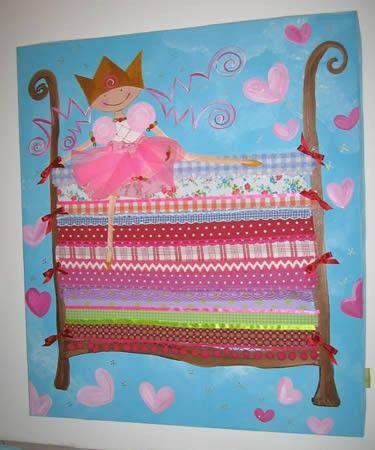 schilderij prinses op de erwt. Black Bedroom Furniture Sets. Home Design Ideas