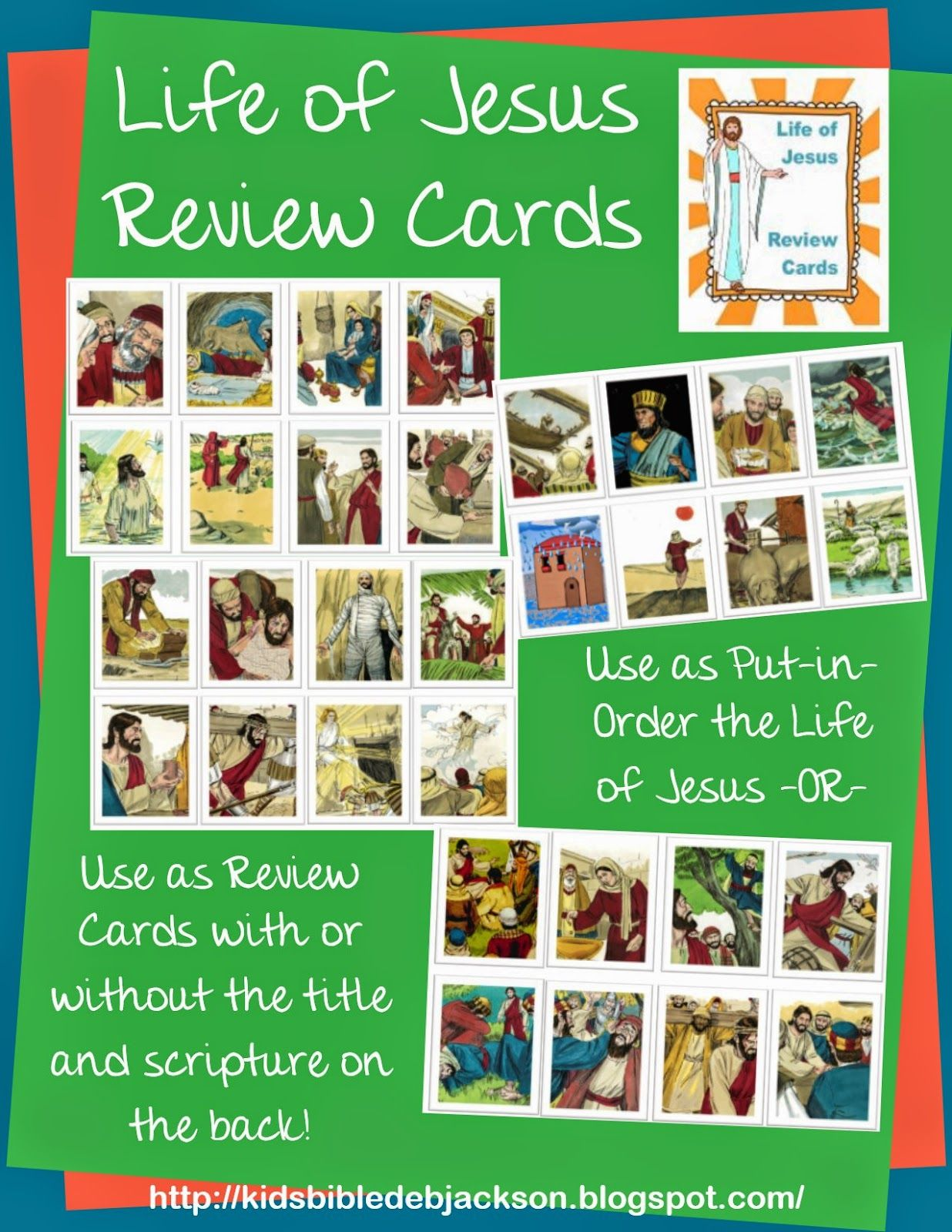 Life Of Jesus Review Cards