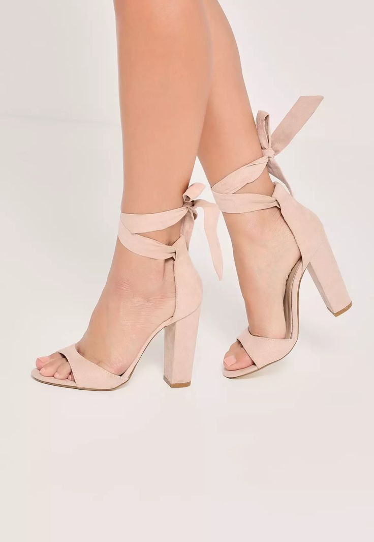 Women's Shoes - Nude heels are an essential and these curved vamp block  heeled sandals are our current obsession!