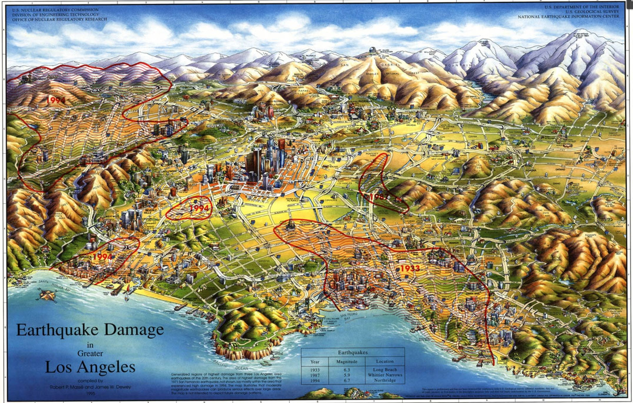 1971 Earthquake Los Angeles Los Angeles Is A Sedimentary Basin The