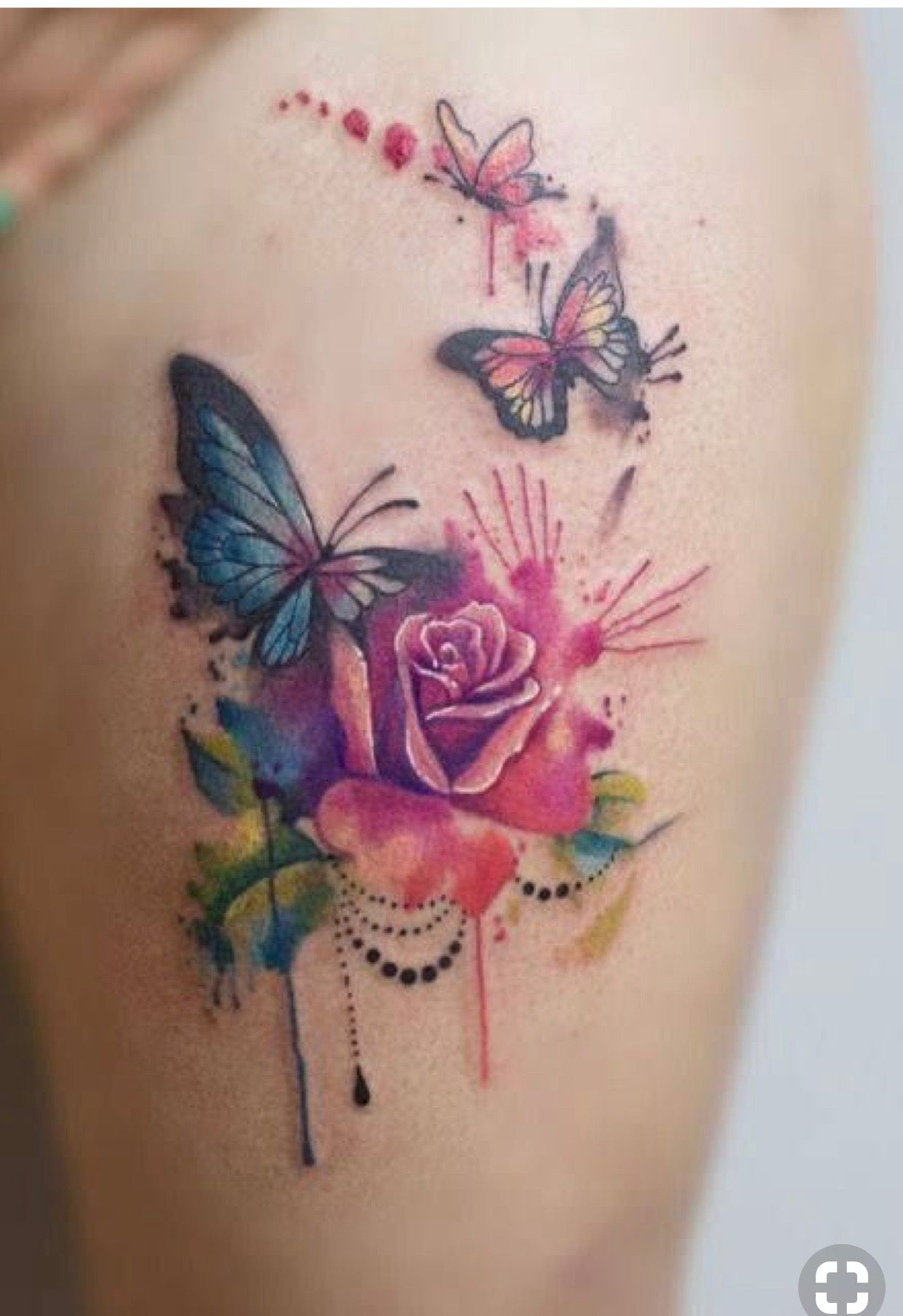 Colors And Concept Trendy Tattoos Watercolor Butterfly Tattoo Tattoos For Women