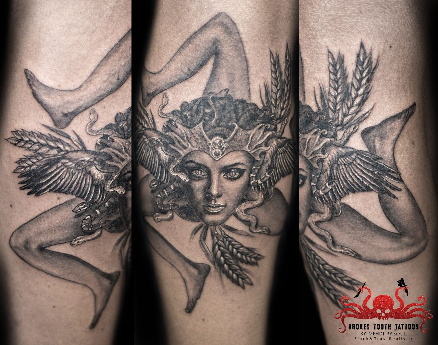Bien connu trinacria tattoo by Mehdi Rasouli broken tooth tattoos | Sicile  WD64