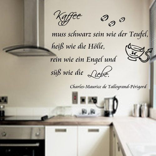 Kaffee -Hölle* Wandtattoo Küche Wallsticker Tattoo | Wandtattoo ...