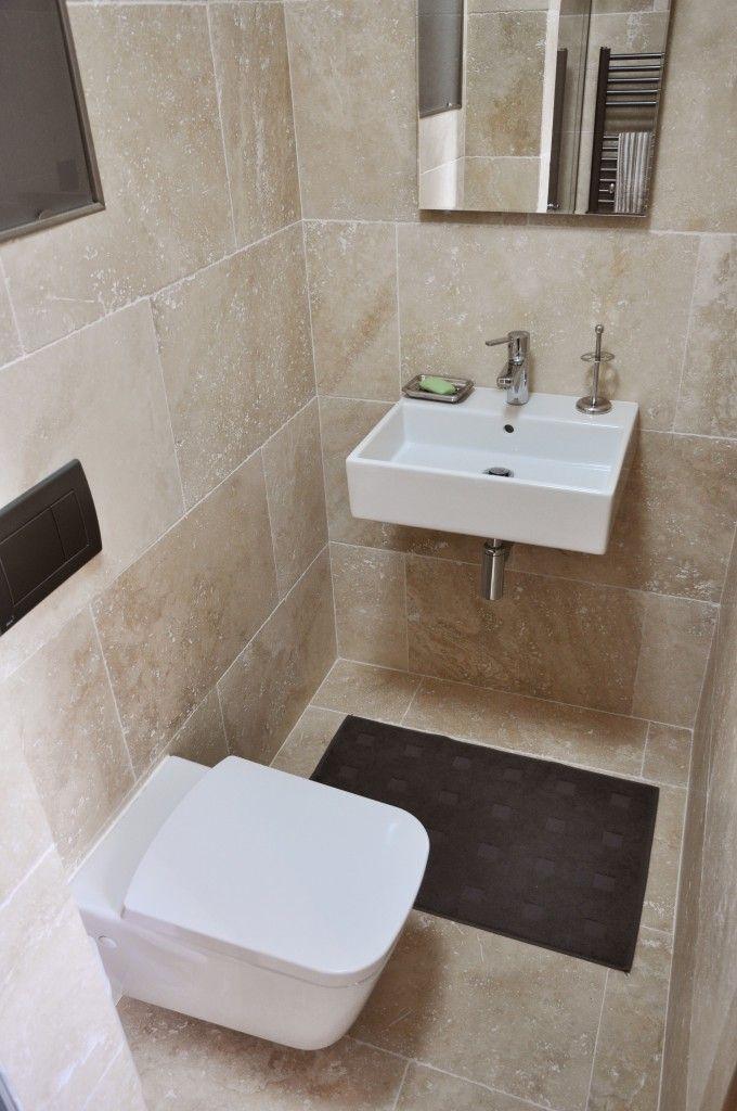 Krásna kompaktná kúpeľňa z top materiálov a travertínu ivory | Travert s.r.o. http://travert.sk/referencia/krasna-kompaktna-kupelna-z-top-materialov-a-travertinu-ivory