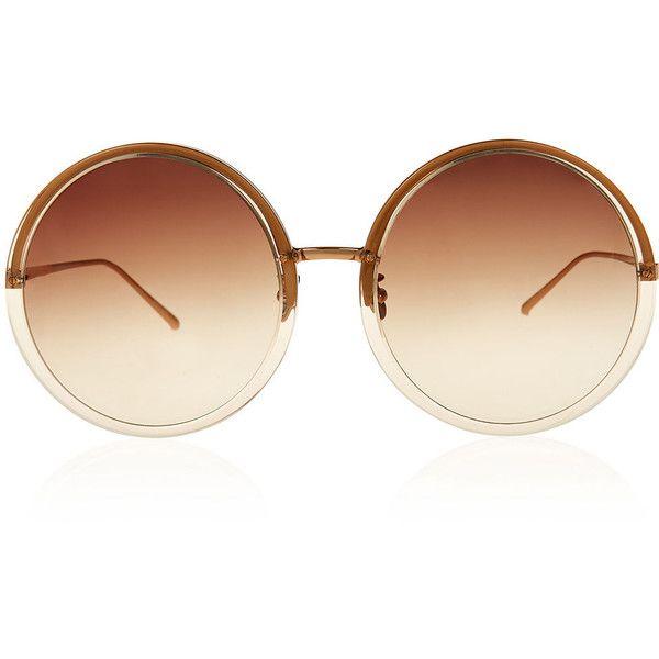 Oversized round-frame sunglasses Linda Farrow OP0rUj