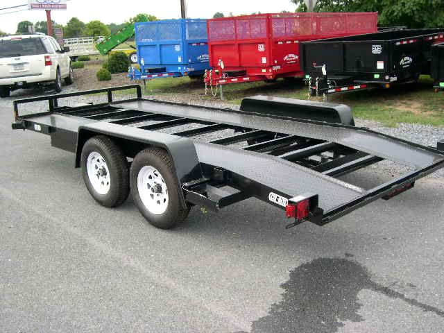 Carmate 8 X 16 Car Trailer 7k With Open Steel Deck Car Trailer Steel Deck Car Hauler Trailer