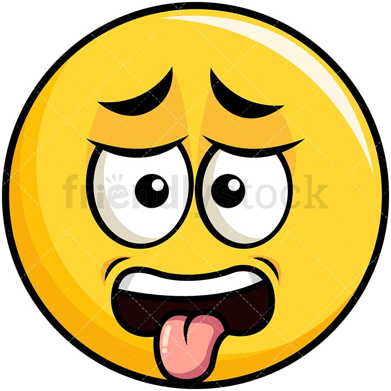 Disgusted Yellow Smiley Emoji Cartoon Vector Clipart ...  Disgusted Yello...