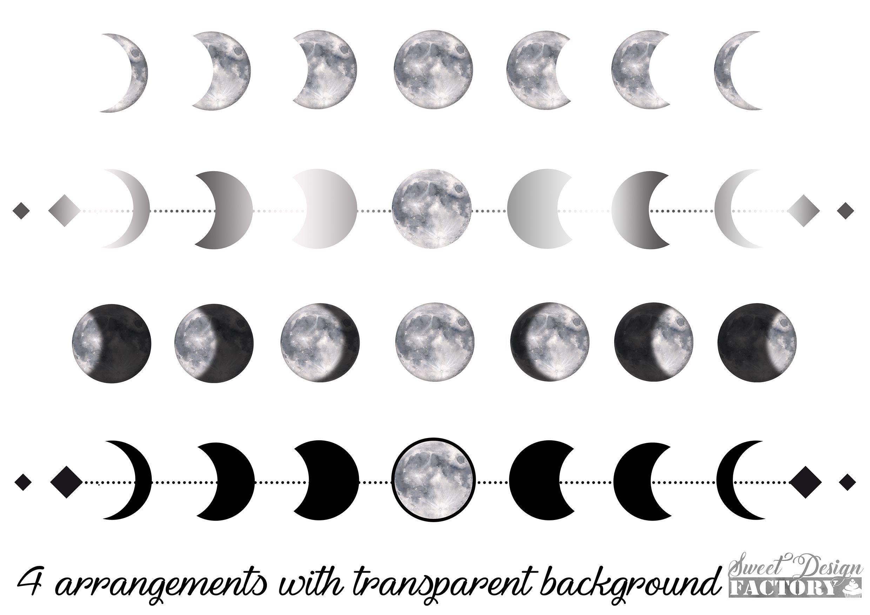 Clipart De Lune A L Aquarelle Clipart Eclipse Pleine Lune