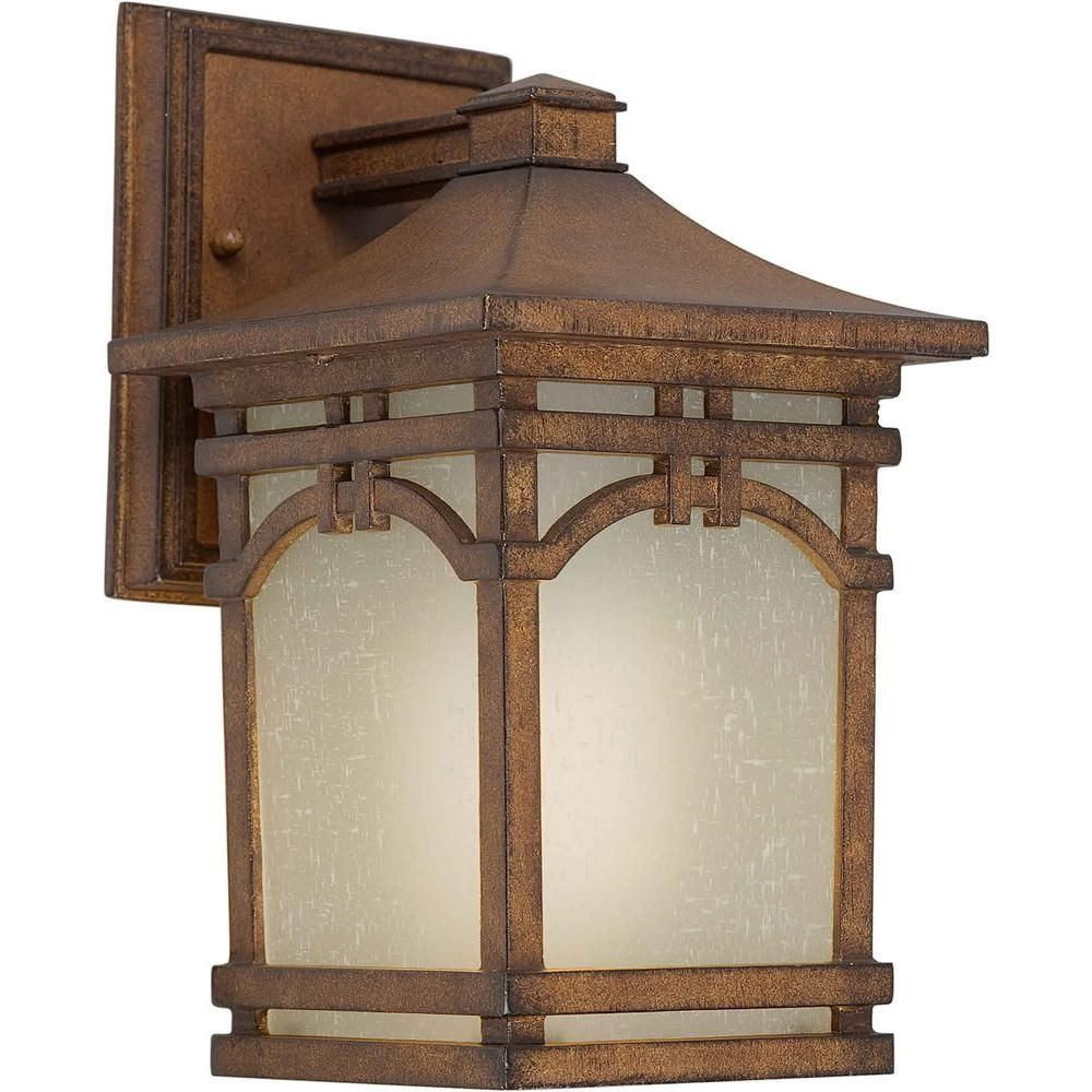 Burton 1-Light Outdoor Rustic Sienna Wall Lantern