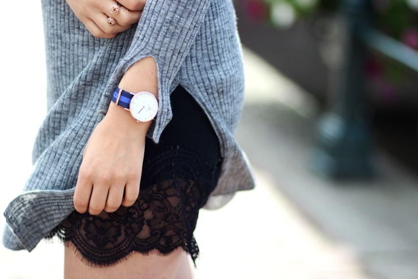 lace skirt Daniël wellington Watch