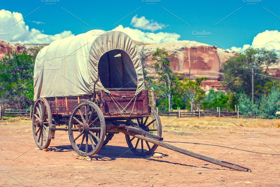 Covered wagon covered wagon oregon trail survival