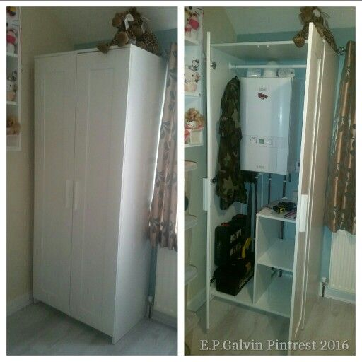 Ikea Brimnes Wardrobe Used As A Boiler Cabinet Create A Room In