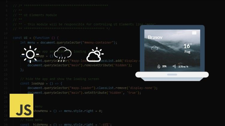 [Udemy 100 Off]JavaScript Weather Application Weather