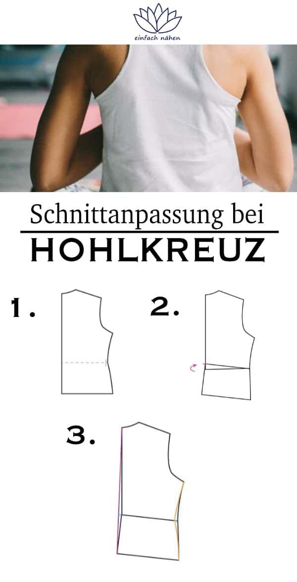Schnittanpassung bei Hohlkreuz - Schritt-für-Schritt Anleitung | EINFACH NÄHEN | PREMIUM | INSPIRATION |