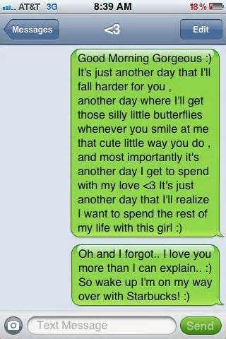Very sweet text messages girlfriend