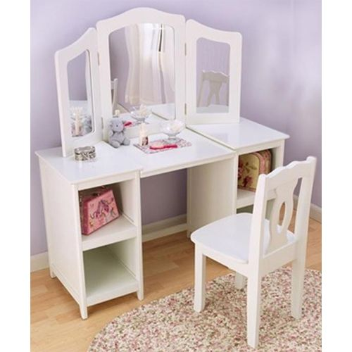 Click Image Above To Buy Deluxe Vanity And Chair Rhymbee - Bedroom Vanity Table