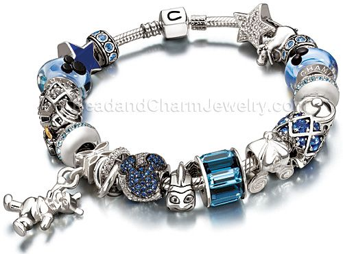 Disney Chamilia charm bracelet (I want it but with more pink and ...