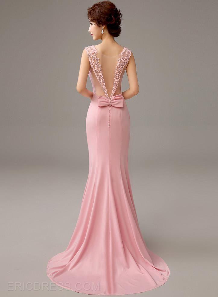 Classy Bowknot Mermaid Court Train Evening Dress | Pinterest ...