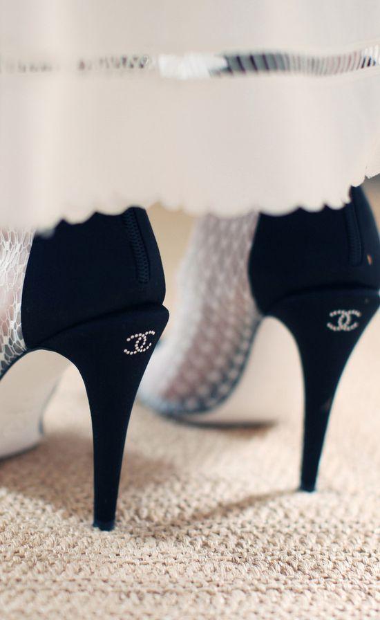 Womens shoes pumps, Lace pumps, Chanel