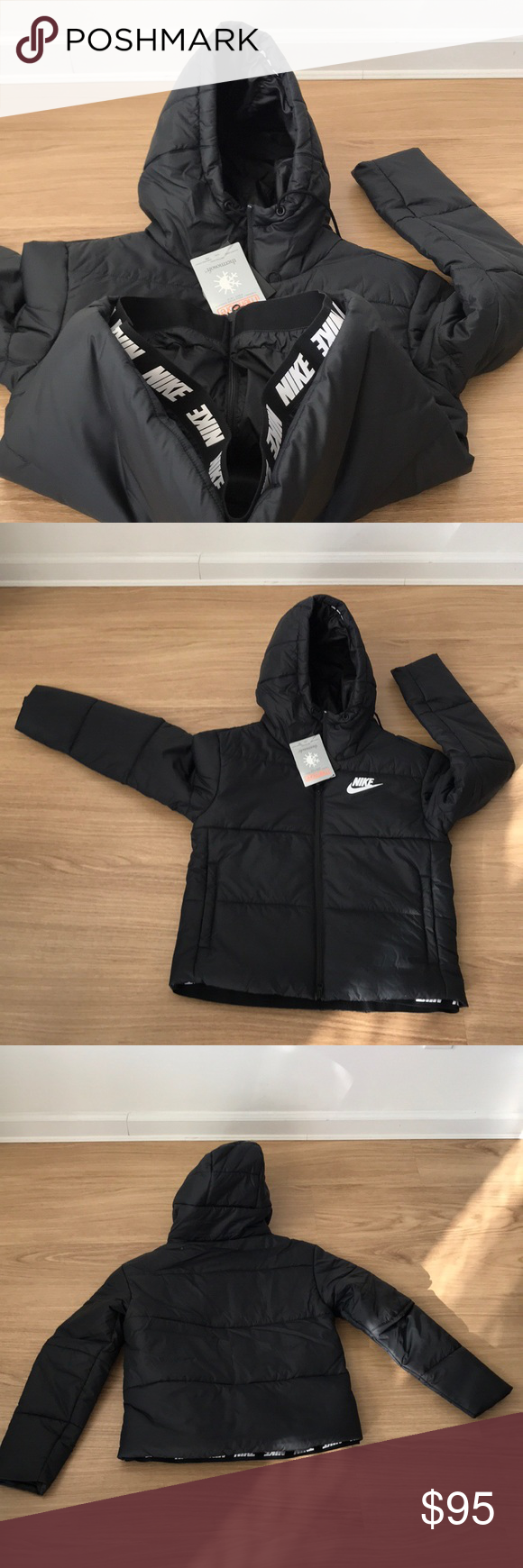 ecac119dc65d New Women Winter ❄ Black Jacket NIKE THERMORE XL New Women NIKE Winter ❄ Jacket  THERMORE snow ski 🎿 869258-010 new Nike Jackets   Coats Puffers