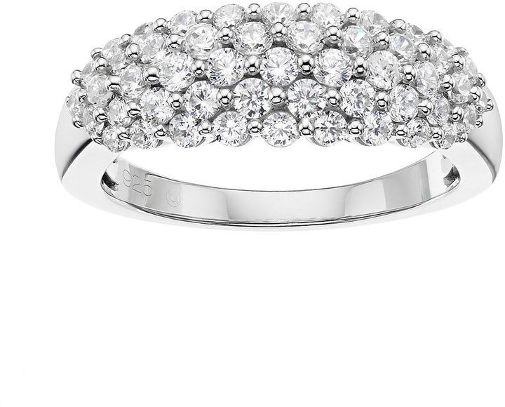 10k White Gold 1 Carat T W Diamond Cluster Ring Diamond Cluster Ring White Gold White Gold Rings