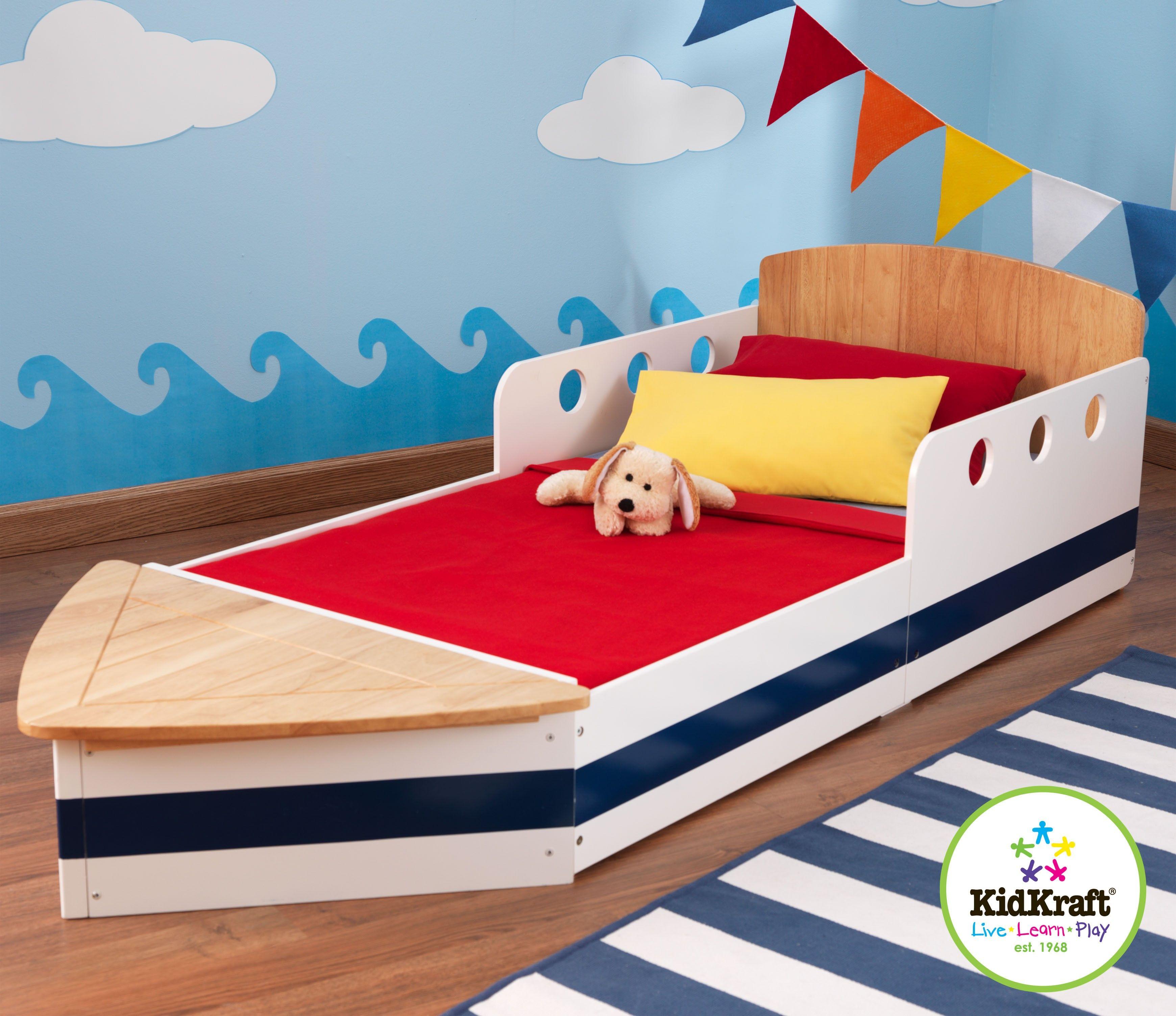 KidKraft // Boat Toddler Bed Toddler bed boy, Kid beds