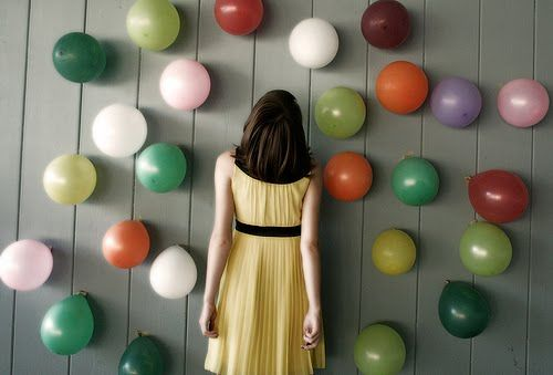 Fill balloons with confetti and prizes and pop at midnight. // You Are My Fave