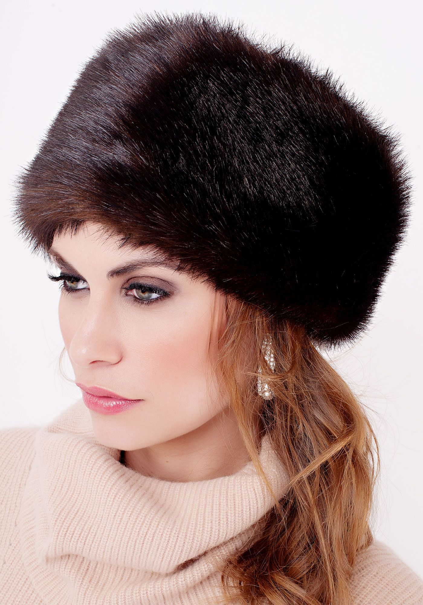 Russian Sable Faux Fur Russian Hat | Beautiful hats ...