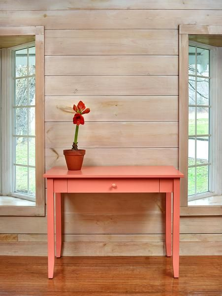 Chiltonu0027s Cottage Writing Table, In Maple, Sunset Paint. Freeport, ME, 888