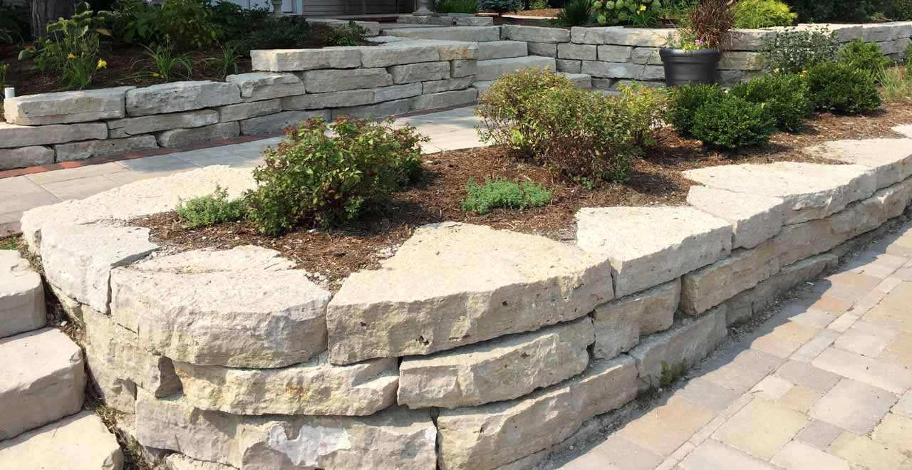 Home Landscape Retaining Wall Stone Design Fond Du Lac Outcroppings Stone Wall Design Front Yard Landscaping Design Stone Retaining Wall