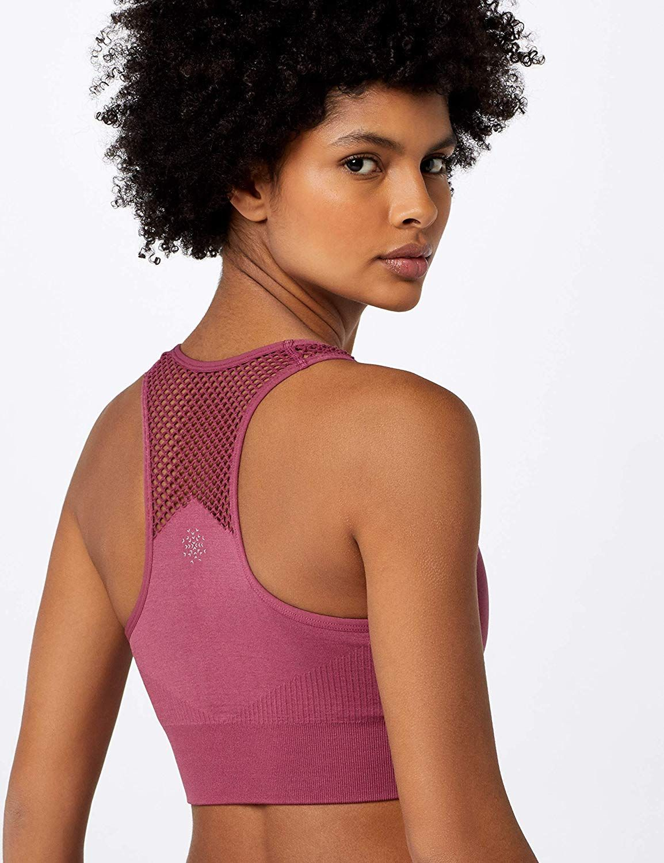 AURIQUE Women's Medium Impact Zip Front Sports Bra Amazon