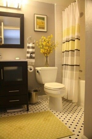 Gray And Yellow Bathroom Redo