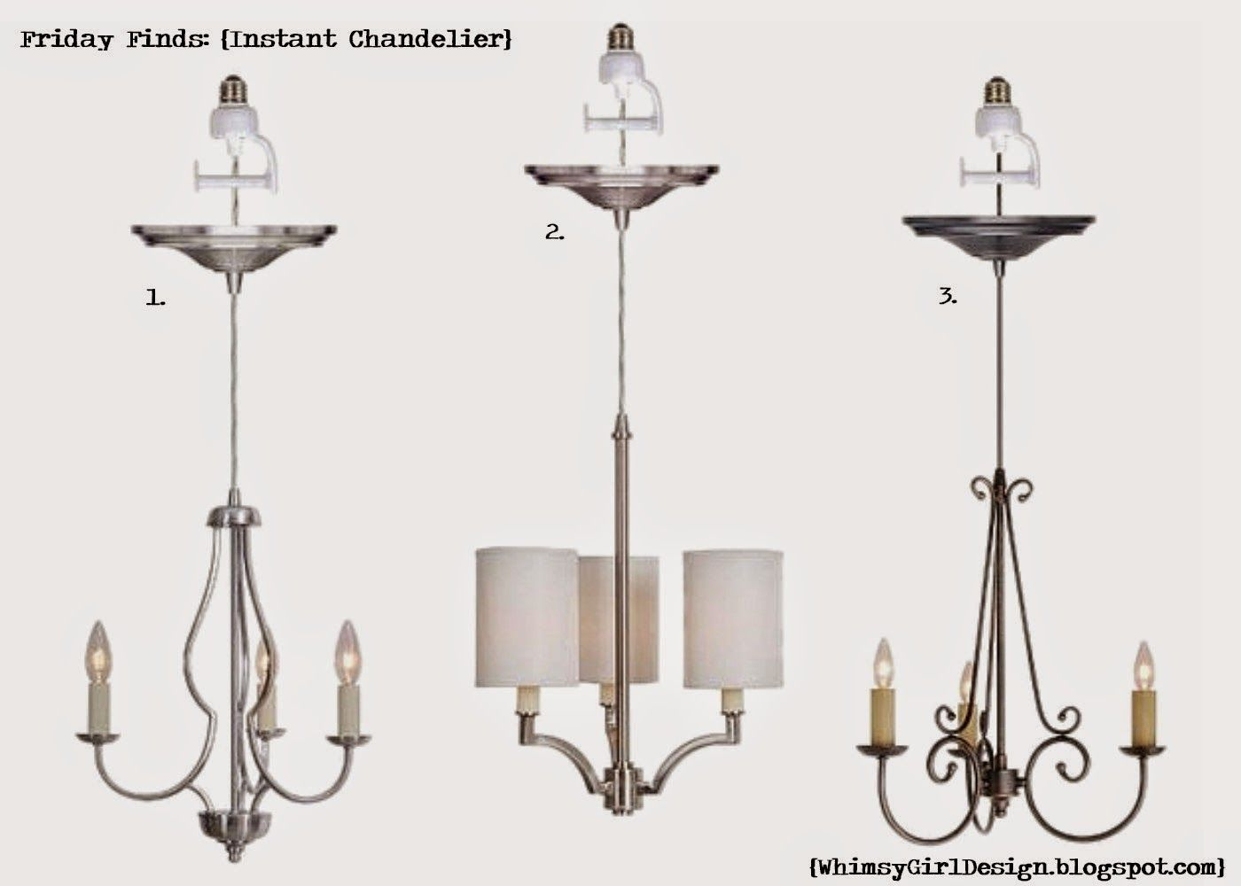 Whimsy girl friday finds recessed lighting conversion chandelier whimsy girl friday finds recessed lighting conversion chandelier chandelier just screws into recessed arubaitofo Choice Image