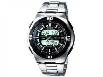 7cf78d11915 Relógio Masculino Casio Mundial AQ-164WD-1AV - Anadigi Resisitente á Água  com Cronômetro