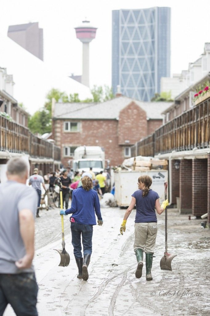 Cole Hofstra captures the Calgary Flood Clean-up