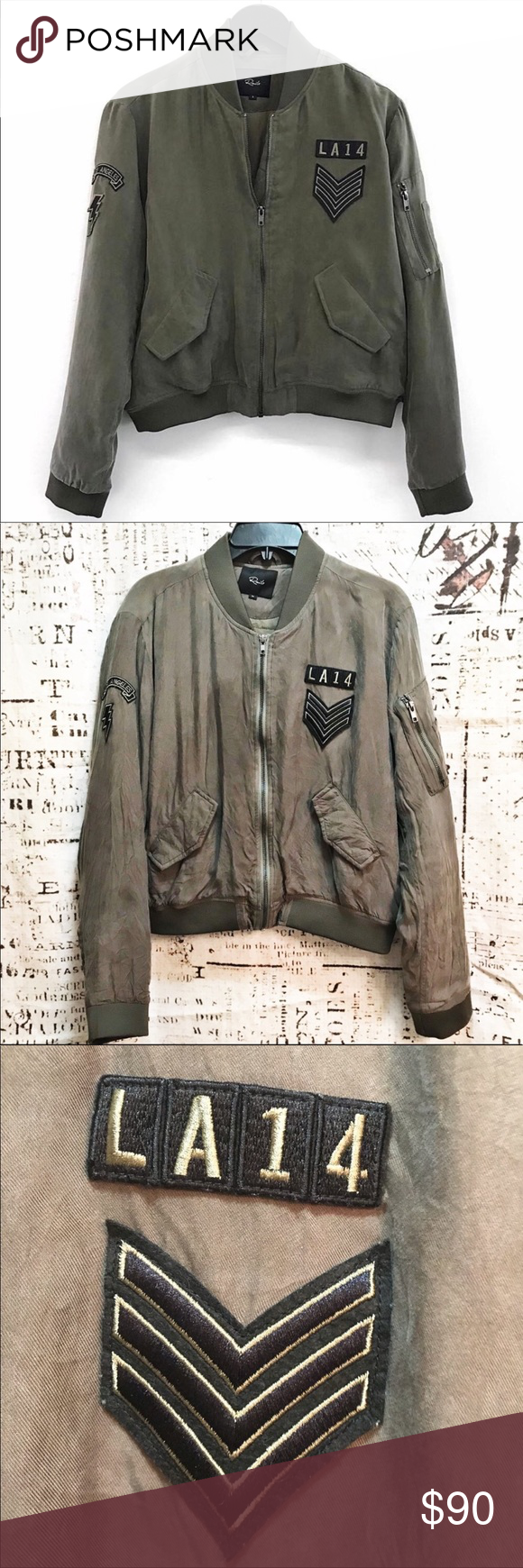 Rails Ace Military Jacket In Sage Green Patch M Brand Rails Style Name Ace Military Jacket Details Zip Front Fron Military Jacket Jackets Military Fashion [ 1740 x 580 Pixel ]