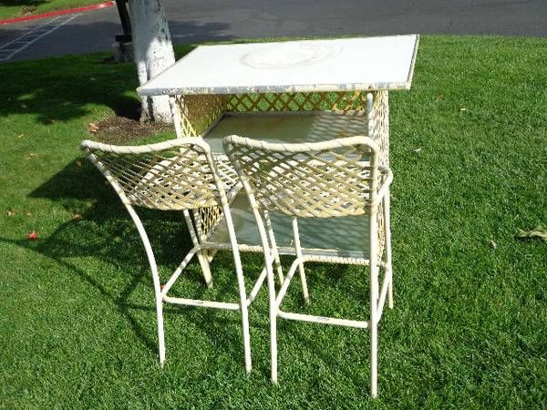 Vintage Brown Jordan Patio Bar 3pc 500 Mid Century Outdoor Furniture Patio Bar Brown Jordan Patio Furniture