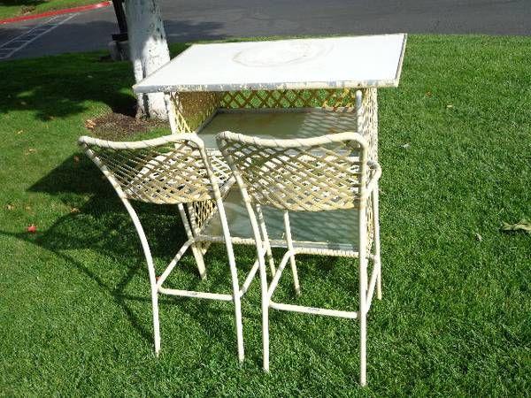 Vintage Brown Jordan Patio Bar 3pc 500 Mid Century Outdoor Furniture Patio Bar Vintage Furniture