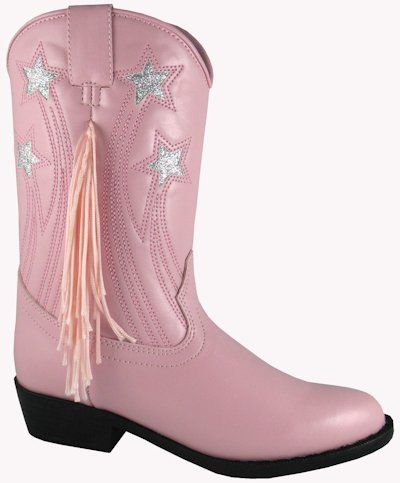 Leather Pink with Fringe NEW Toddler Western Cowboy Smoky Mountain Boots